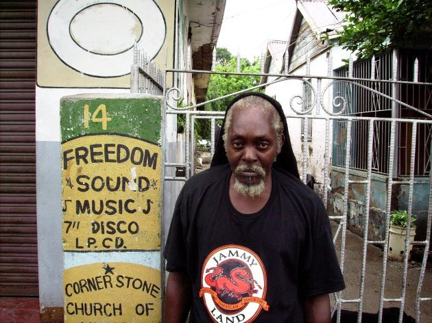 Man at Freedom Sounds (by Prince Alla)