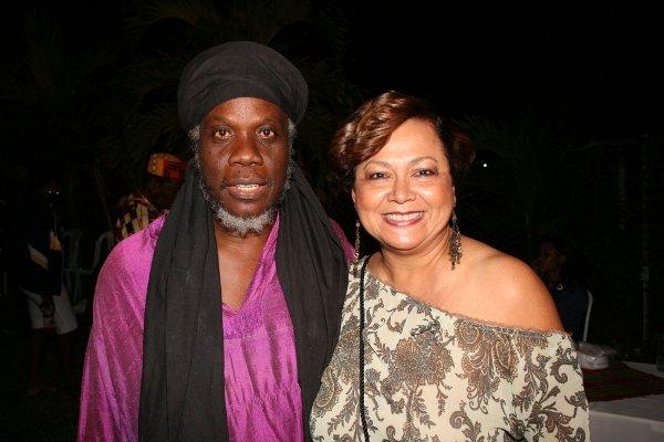 Mutabaruka and singer Mary Isaacs © Steve James