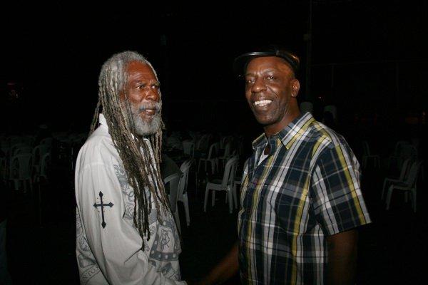 Bob Andy and Tony Phillips (Ruff Cutt Band) © Steve James