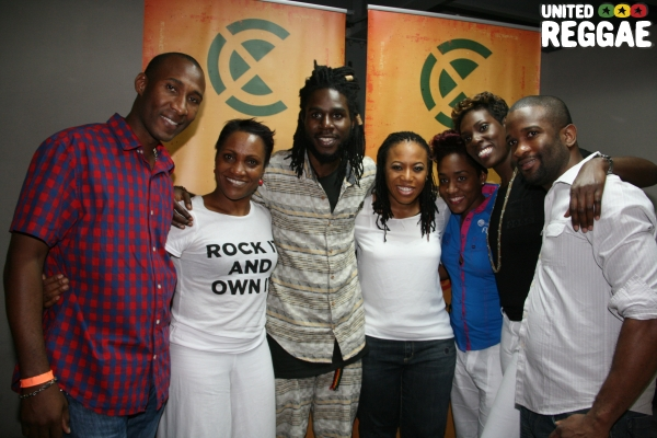 Backstage, Flow Team and Chronixx © Steve James