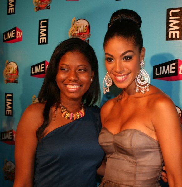 Kerisa Harriot and Yendi Phillips, Jamaican Miss Universe © Steve James