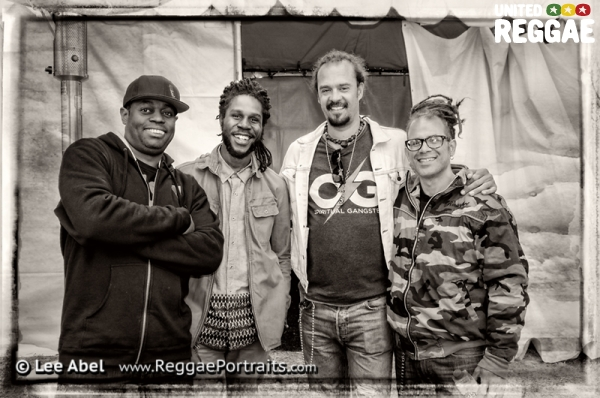 Chronixx, Michael Franti and Hossein Attar © Lee Abel