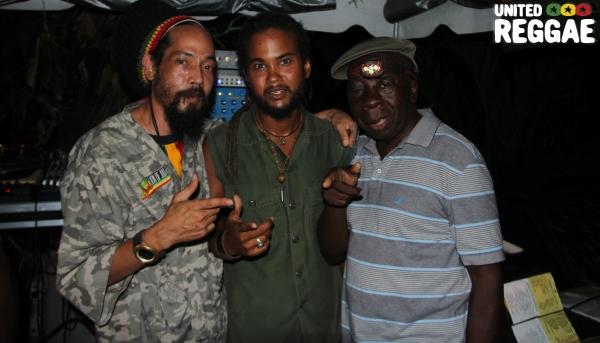 Club owner Gabre Selassie, Lee Tafari & Downbeat the Ruler © Steve James