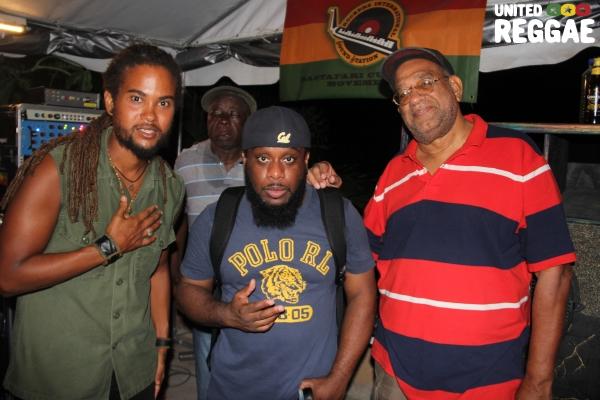 Lee Tafari, DJ Short Mike & Emperor Faith © Steve James