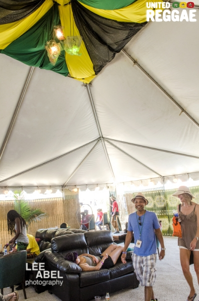 VIP tent © Lee Abel