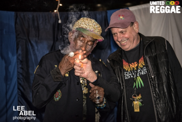 Lee Perry and Promoter Warren Smith © Lee Abel