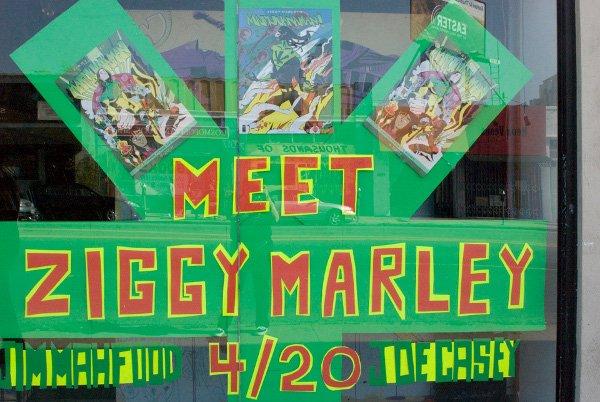 Meet Ziggy Marley window display © Jan Salzman