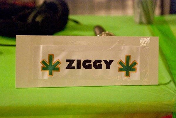Ziggy Marley name tag © Jan Salzman