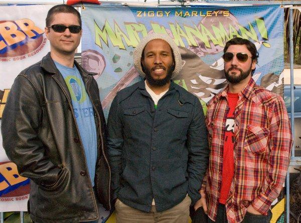 Joe Casey, Ziggy Marley and Jim Mahfood © Jan Salzman