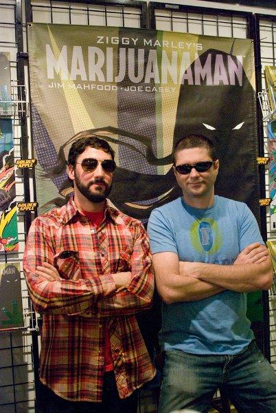 Jim Mahfood and Joe Casey © Jan Salzman