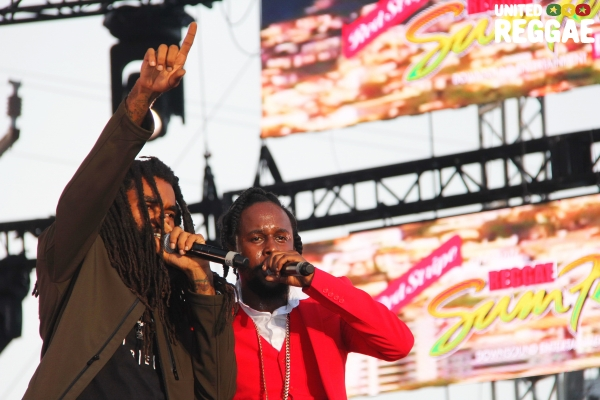 Reggae Sumfest 2018 - Dancehall Night, Dre Island & Popcaan © Steve James