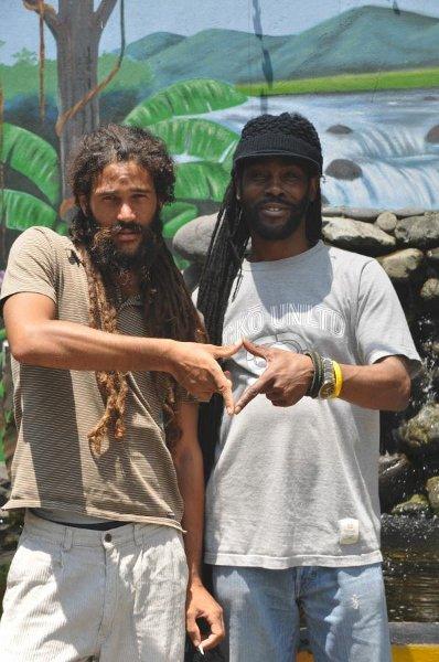 Alex Marley and Ras Bekk © Gail Zucker