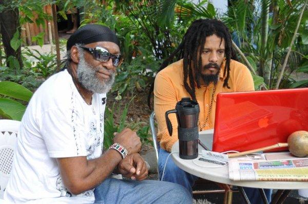 Gilly, Bob Marley's chef and Rohan Marley © Gail Zucker